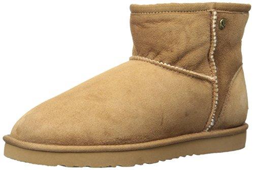 Koolaburra Women's Classic Ankle Sheepskin Boot, Chestnut, 8 M US -
