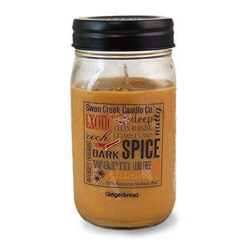Swan Creek Gingerbread 24 Oz Jar Candle Swan Creek Candle AX-AY-ABHI-15008