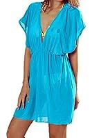 DQdq Women's Beach Swimsuit Cover Up V-neck Dress