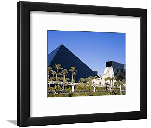 ArtEdge Luxor Hotel and Casino, Las Vegas, Nevada, United States, North America by Richard Cummins, Black Matted Wall Art Framed Print, 9 x 12, Soft White