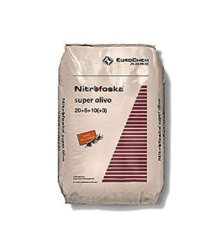 Nitrofoska Super Olivo 20-5-10. 25 Kilos. Abono Complejo Que aporta al Olivo Todos los nutrientes necesarios para Conseguir un Fruto de máxima Calidad.