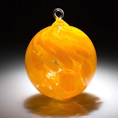 Ornament. Sun catcher. Hand blown Fine Art Glass Ornament in Solar Flare Made in Seattle. Artist Dehanna ()