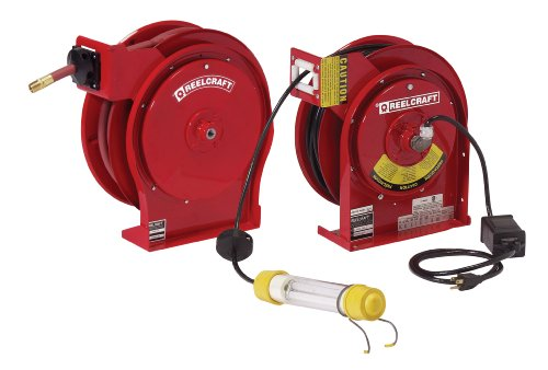 Reelcraft TP5650 OLP/L 4050 162 2-92 Spring Driven Reel Twin Pack for Air/Water and Fluorescent Light by Reelcraft