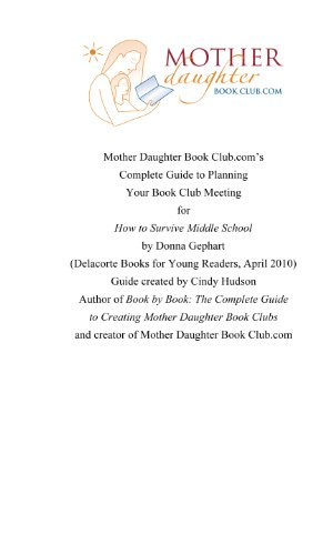 How to Survive Middle School: Book Club Meeting Planner