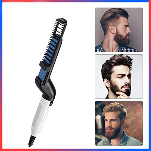 NEVOC Electric Comb for Men, Men's Multi-Purpose Styling Comb Type Fluffy Roll Straight Dual Personal Care Shun Hair…