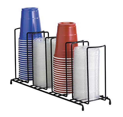 Rite Dispense Cup (DISPENSE-RITE WR-4 Dispense-Rite Four Section Wire Rack Cup and Lid Organizer, 8-1/2