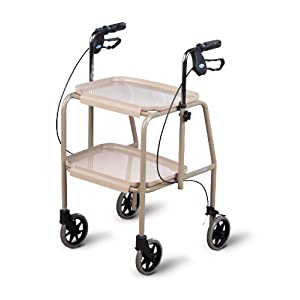 Homecraft Walker Trolley, Beige, Mobility Aid with Built-in Trays for Carrying Personal Items, Sturdy Walking Device… 42
