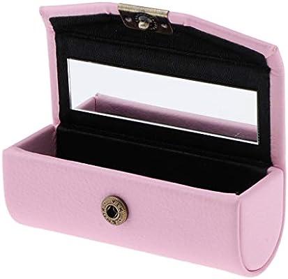 Caja de Lápia Labial Recipiente Cosmético Envase de Brillo de Labios Estuche de Pintalabios Contenedores - Rosado: Amazon.es: Belleza
