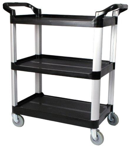 Winco USA 3-Tier Utility Cart, Black by Winco