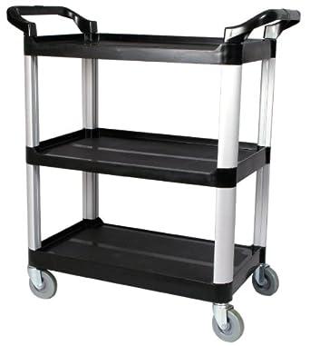 Merveilleux Winco USA 3 Tier Utility Cart, Black