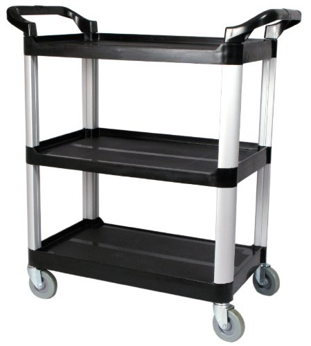 Winco USA 3-Tier Utility Cart, Black