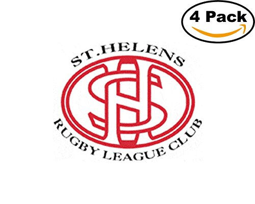 Rugby St. Helens RFC Logo 4 Stickers 4X4 Inches Car Bumper Window Sticker ()