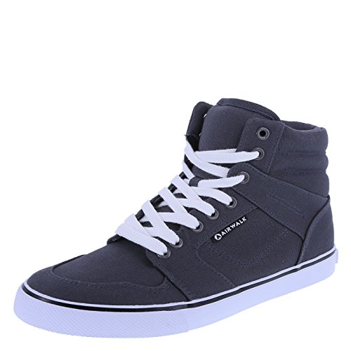 Airwalk Women's Dark Grey Canvas Women's Radlee High-Top 11 Regular