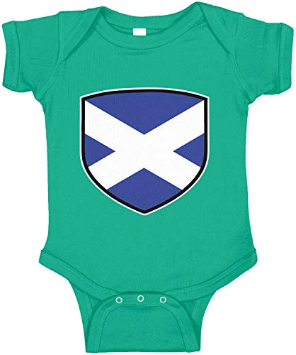 (Amdesco Scotland Shield Scottish Flag Infant Bodysuit, Kelly Green Newborn)