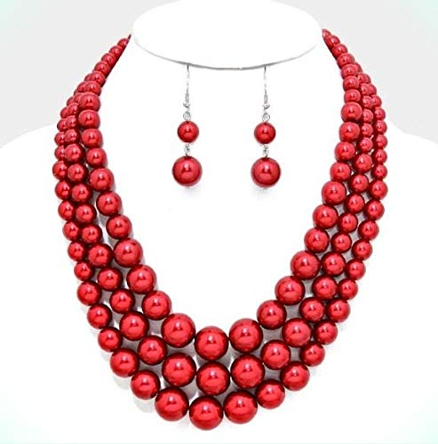 Red Pearl Multi Layered...