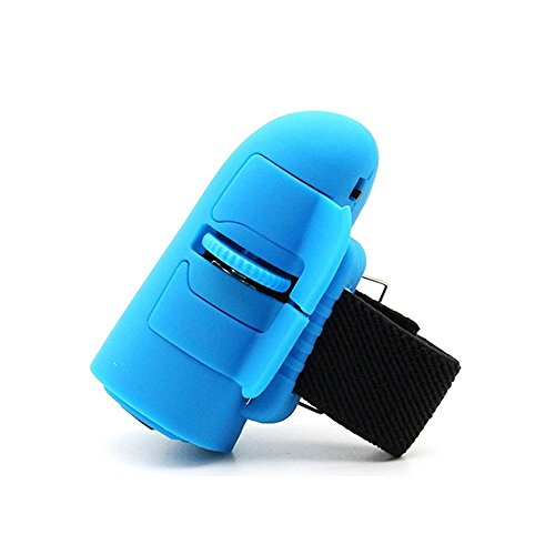 Price comparison product image Mchoice High Speed Mini 2.4GHz USB Wireless Lazy Finger Rings Optical Mouse 1200Dpi For PC Laptop Desktop (Blue)