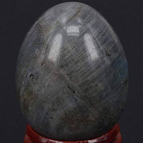 Bingo Point 34x44MM Natural Gemstone Flash Labradorite Sphere Egg Healing Reiki Crafts Stone Massage Finger ()