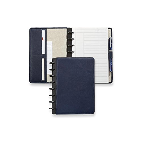 Levenger Luxe Midnight Circa Leather Foldover Notebook by Levenger (Image #1)