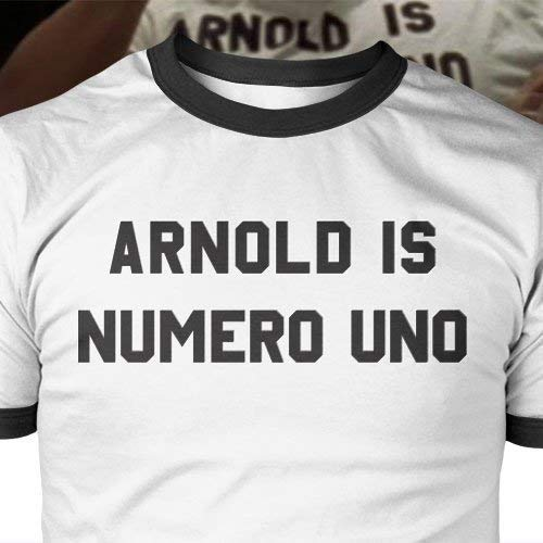 Mens Workout Shirt Arnold Is Numero Uno TShirt arnold schwarzenegger pumping iron golds gym exercise Arnold Is Numero Uno T-shirt