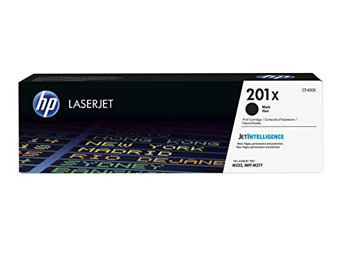 Hewlett Packard Genuine Laserjet (HP 201X (CF400X) Toner Cartridge, Black High Yield for HP Color Laserjet Pro M252dw M277 MFP M277c6 M277dw MFP 277dw)