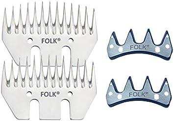 Oferta juegos peines y cuchillas para Esquilar Ovejas de la marca Folk, valida para Heiniger, Oster, Supershear, gts, shearmaster, super-profi, kerbl, profiline (2)