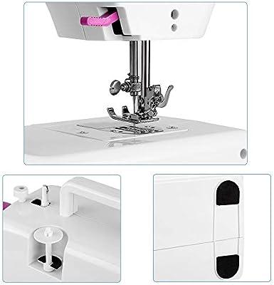 Portátil Mini Máquina de Coser Manual Profesional Eléctrica con ...