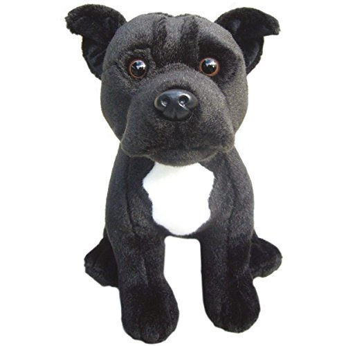 Faithful Friends Staffordshire Bull Terrier (Black) Soft Toy 12
