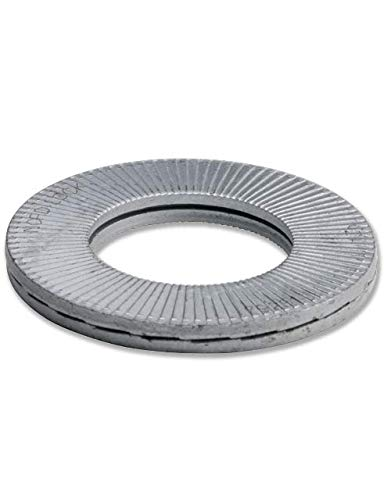 3 glued Pairs//Pack Wedge Locking Washer 254 SMO Stainless Steel M14 Large O.D 9//16