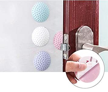 Aeoss Door Stopper Jammer Backed Door Knob Wall Protectors Guards Stoppers, Handle Bumper Round Rubber Crash Pads (Set of 4 pcs)