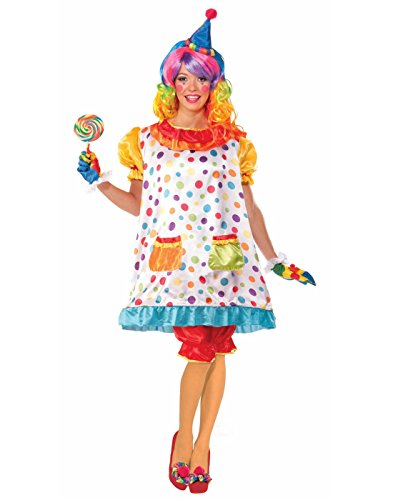 Forum Novelties Women's Wiggles The Clown Costume, Multi, Standard]()