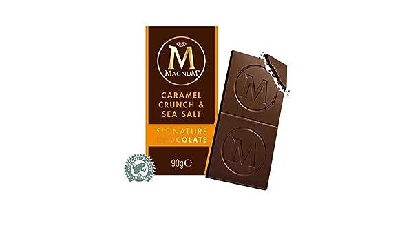 Algida Magnum Caramel Crunch & Sea Salt Signature Chocolate clásico Chocolate con leche con piezas de caramelo y sal marina / Chocolate con leche con 3% de ...