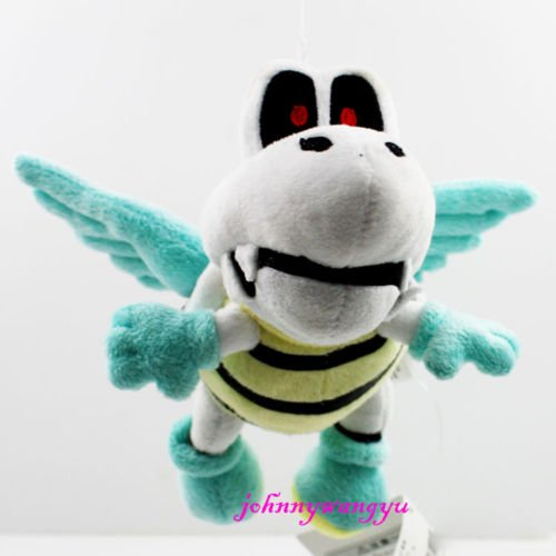 [New Super Mario Bros Plush Winged Dry Bones Soft Toy Doll Stuffed Animal 15cm] (Dry Bowser Costume)