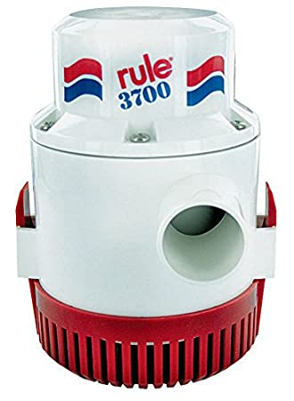 UL Listed 6 Foot Leads Rule 14A-6UL 3700 GPH Heavy Duty Bilige Pump Non-Automatic 12 Volt