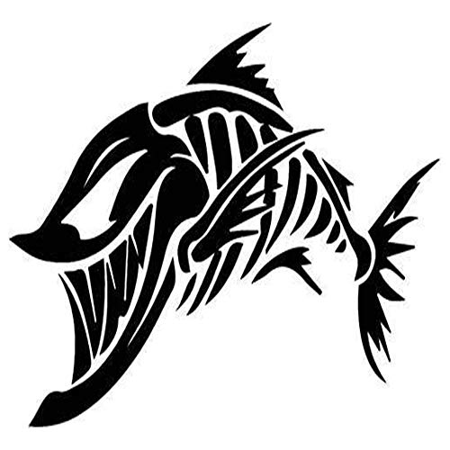 (Ross Stores Fish Bones Skeleton - Sticker Graphic - Auto, Wall, Laptop, Cell, Truck Sticker for Windows, Cars, Trucks)