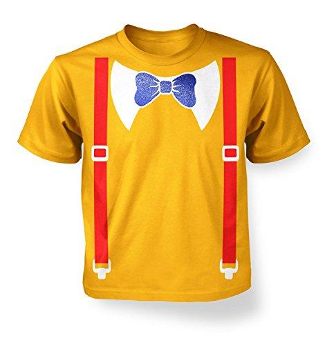 Tweedle Dee And Tweedle Dum Costume Kids T-shirt - Gold M (7-8) (Tweedle Dee Fancy Dress)