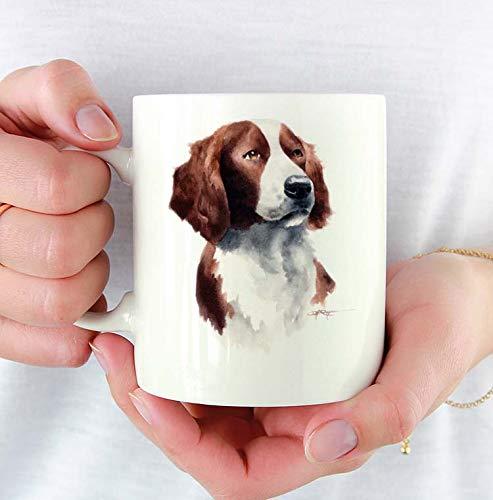 (Irish Setter Custom 11oz Mug With Dog Art Featuring Watercolor Painting by Artist DJ Rogers)