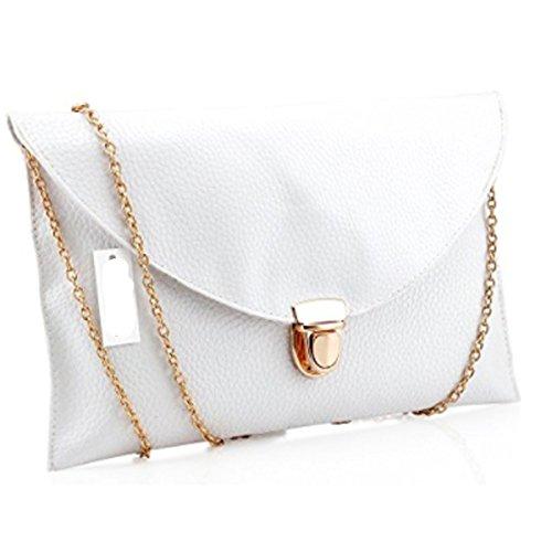 Amaze Fashion Women Handbag Shoulder Bags Envelope Clutch Crossbody Satchel Tote Purse Leather Lady Bag (White) by Amaze (Image #2)