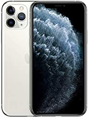 Apple iPhone 11 Pro (256GB, Silver) [Locked] + Carrier Subscription