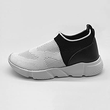 MREIO American Pride Childrens Lightweight Fly Knit Shoes Casual Sport Loafers Sneakers Running Shoes For Boys