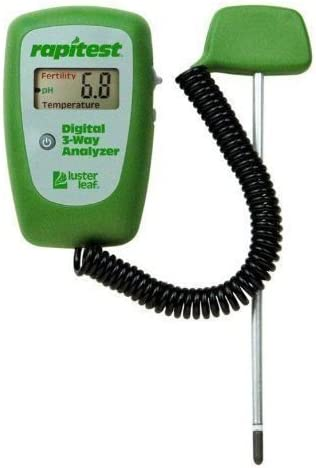 (Gg) Rapitest 1835 Digital 3 Weg Soil Analyzer Luster Leaf Ph Fertility Therm Tester