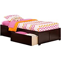 Concord Flat Panel Footboard with 2 Urban Bed Drawers, Twin XL, Espresso