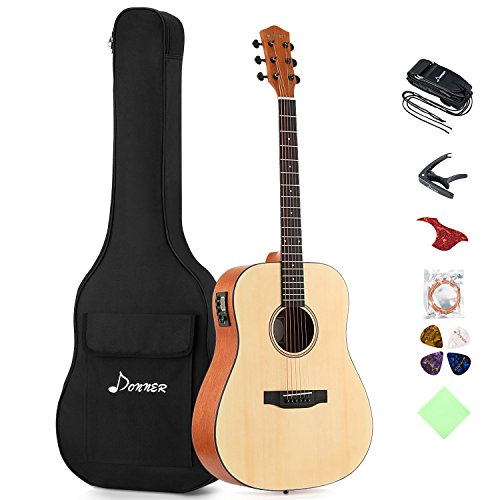 Donner DAG-1E Electric Acoustic Guitar Package Full-size 41