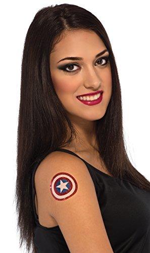 Rubie's Marvel Women's Universe American Dream Glitter Tattoo,
