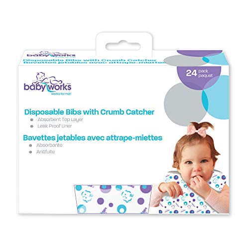 Baby Works Disposable Bibs with Crumb Catcher 24 Count for sale  Delivered anywhere in Canada