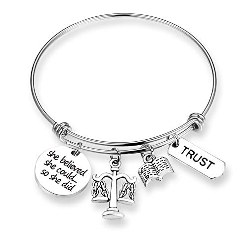 tice Lawyer Gifts Lawyer Bracelet Jewelry She Believed She Could Graduation Gift New Lawyer Gift Law Student Bracelet (BR- She Believed, Lawyer) ()