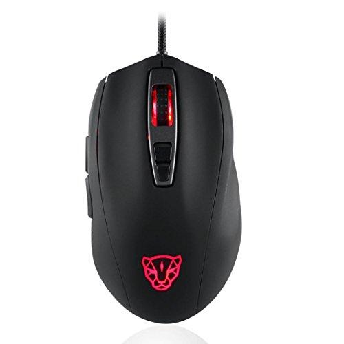 Mchoice MOTOSPEED V60 5000DPI Professional Breathing Optical Wired Gaming RBG Mouse (Black)