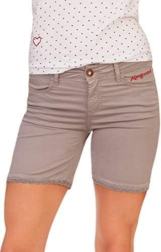 Almgwand 1928 Trachten Damen Shorts - KECHTALM - taubenblau, grau