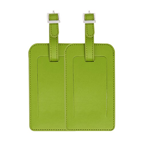 uxcell PU Leather Travel Luggage Tag Suitcase Baggage Bag Name Address Telephone Message ID Label 2pcs Lemon ()