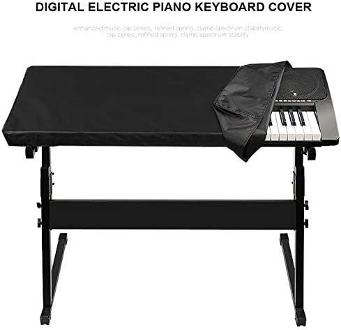 Richele Funda Piano 88 Teclas Cubierta para el Teclado de Piano Digital Cordón Elástico Ajustable Funda Protectora Piano Casio Yamaha Roland