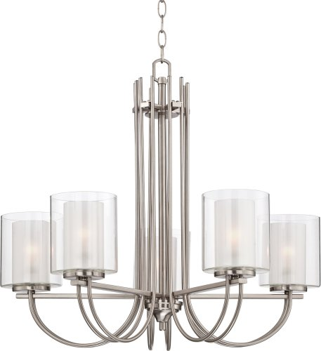 Possini Euro Melody 26 3/4″ Wide Brushed Steel Chandelier For Sale
